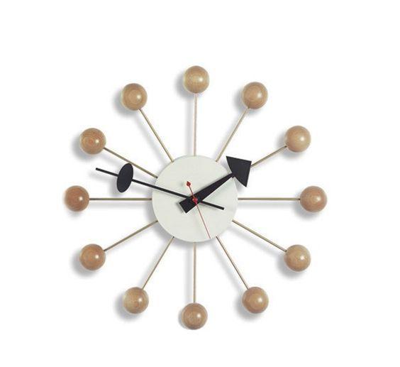 Ball Clock Natural By Vitra In 2020 Nelson Ball Clock Clock Nelson Clock