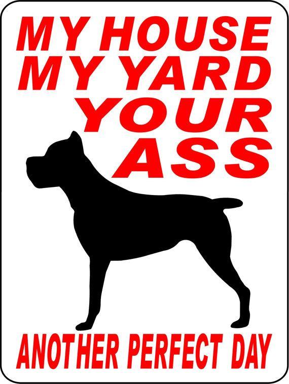 CANE CORSO Dog Sign 9x12 ALUMINUM by animalzrule on Etsy, $13.00