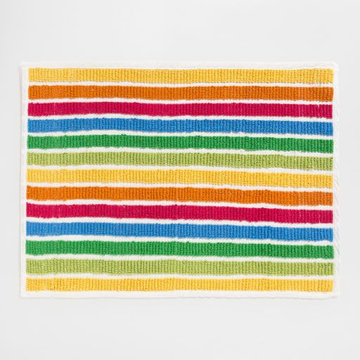 Image of the product MULTICOLOURED STRIPED BATH MAT
