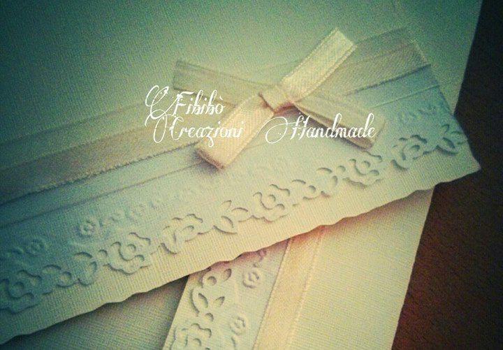 Partecipazione di nozze handmade