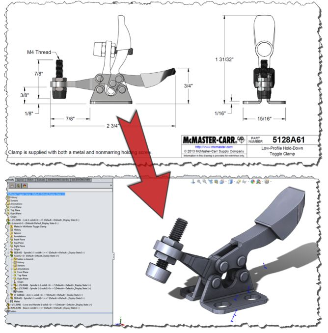 Creating a @SOLIDWORKS Assembly from a McMaster-Carr 3D CAD File