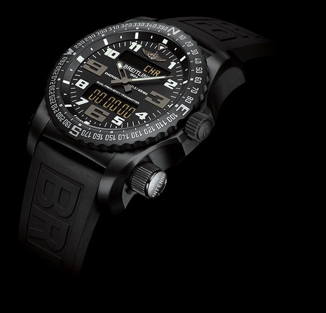 Breitling Emergency All Black Titanium.  Soon available!! #breitling #emergency #qpexclusievehorloges #qpx #amsterdam