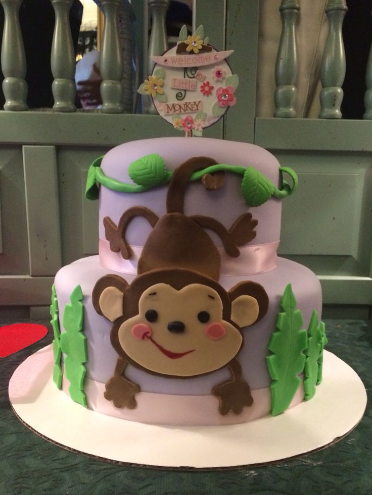 Best 25 monkey cakes ideas on pinterest monkey party foods monkey cupcakes and cupcakes for boys - Monkey baby shower cakes for boys ...