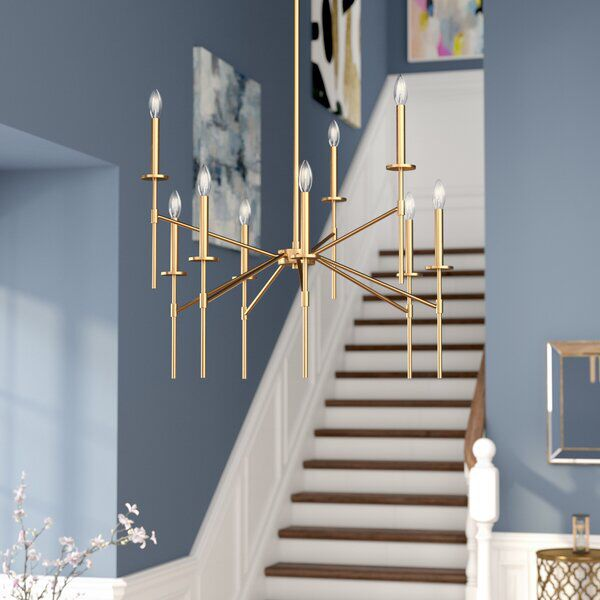 Diamanta 9 Light Candle Style Tiered Chandelier In 2020 Traditional Chandelier Candle Styling Candle Style Chandelier