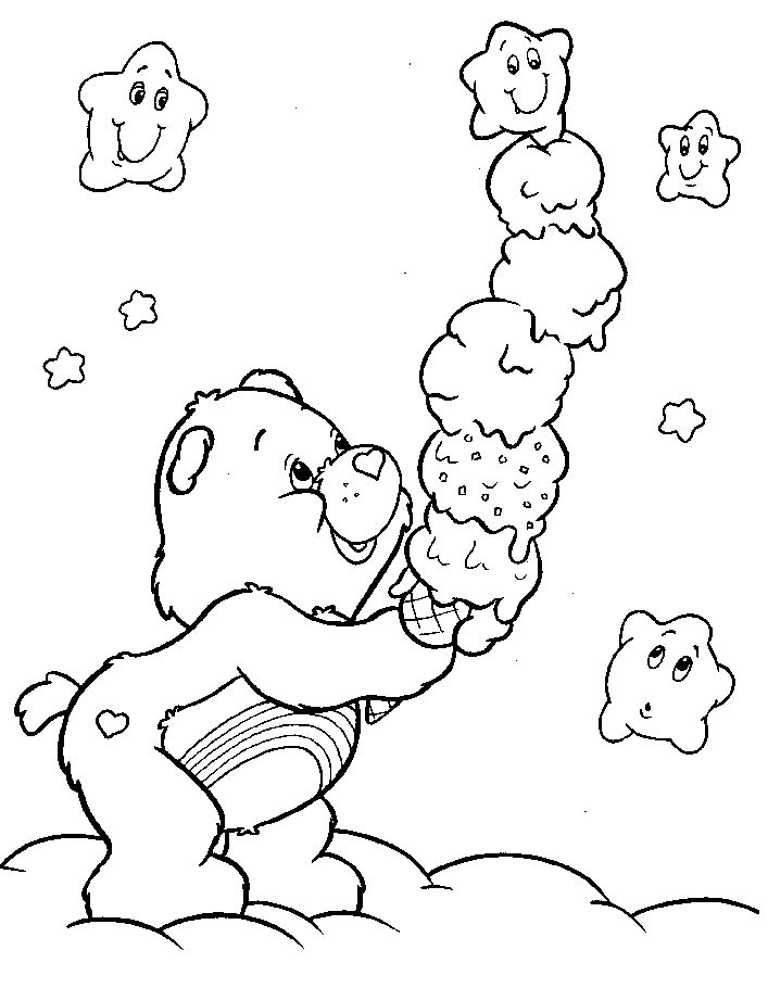 277 best care bears coloring pages images on pinterest