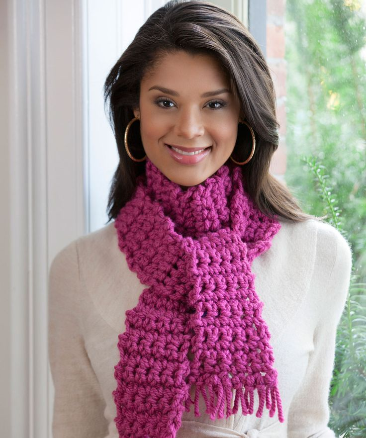 Isis Infinity Scarf Free Crochet Pattern From Red Heart Yarns : Le 43 migliori idee su Crochet - One day! su Pinterest ...