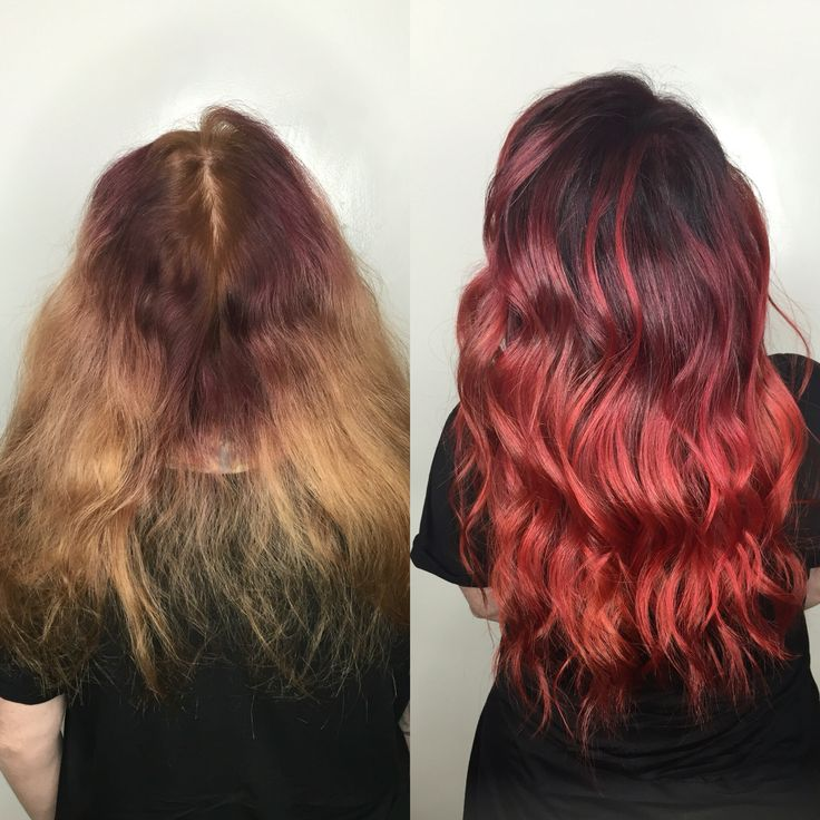 Purple pink red ombré color melt