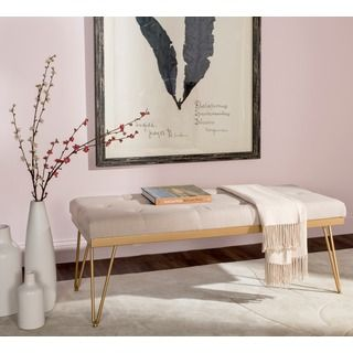 Shop for Safavieh Marcella Beige  Gold Bench  Get free shipping at  Overstock com   Entryway BenchOnline Furniture. Best 25  Online furniture stores ideas on Pinterest   Online