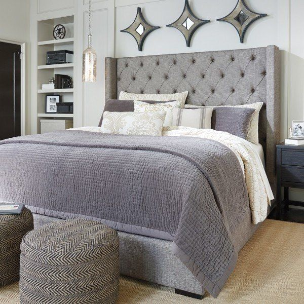 Pin By Jerika Morris On Home Sorinella King Upholstered