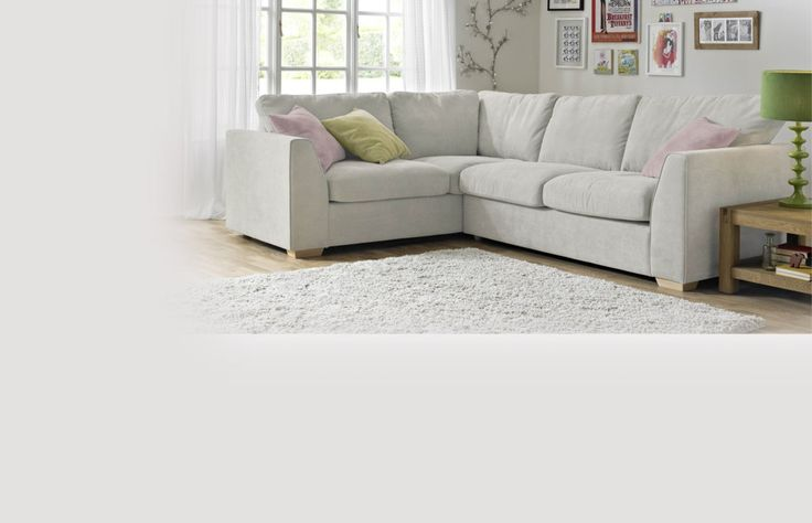Right Hand Facing Deluxe Corner Sofa Bed Sherbet Dfs