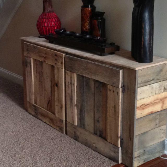Kitchen Cabinets In Garage, Dog Food Bin And Coffee