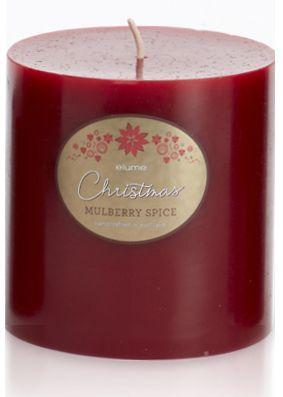 Elume Christmas Spiced Mulberry 10cm Pillar Candle