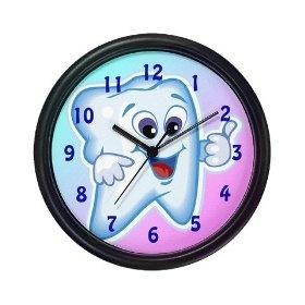 Tooth Clock: Dentists Clocks, Tooth Clocks, Dental Offices, Dental Hygienist, Custom Clocks, Dentists Offices, Dental Memes, Cleaning Schedule, Dental Stuff