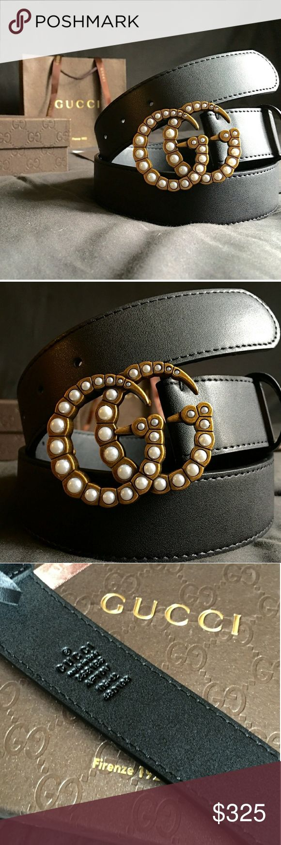 """Gucci Double G Belt!!! Gucci GG Belt W/Pearl & Antique Brass Double G Buckle!!!  Brand New!!!  Size Available - 32"""", 34"""", 36"""", 38"""", 40"""", 42""""!!!  Includes Gucci Belt, Gift Box, Dust Bag, Ribbon, Etc!!!  Great Gift Idea!!!  Last Available!!!  Check My Listings For Other Great Items!!!              Ignore: Gucci gg monogram casual dress belts men's women's guccissma leather monogram web tiger bee embossed panther wool cable knit blooms supreme print angry cat ufo dragon studded snake double g…"""