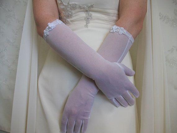 Gloves for Brides White organza Gloves Mittens by DesignByIrenne