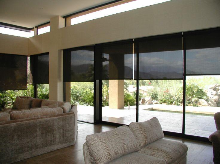 Cortinas En Tejido Screen, Brindan Protección Solar Y Los Tonos Oscuros Le  Permiten Una Mejor