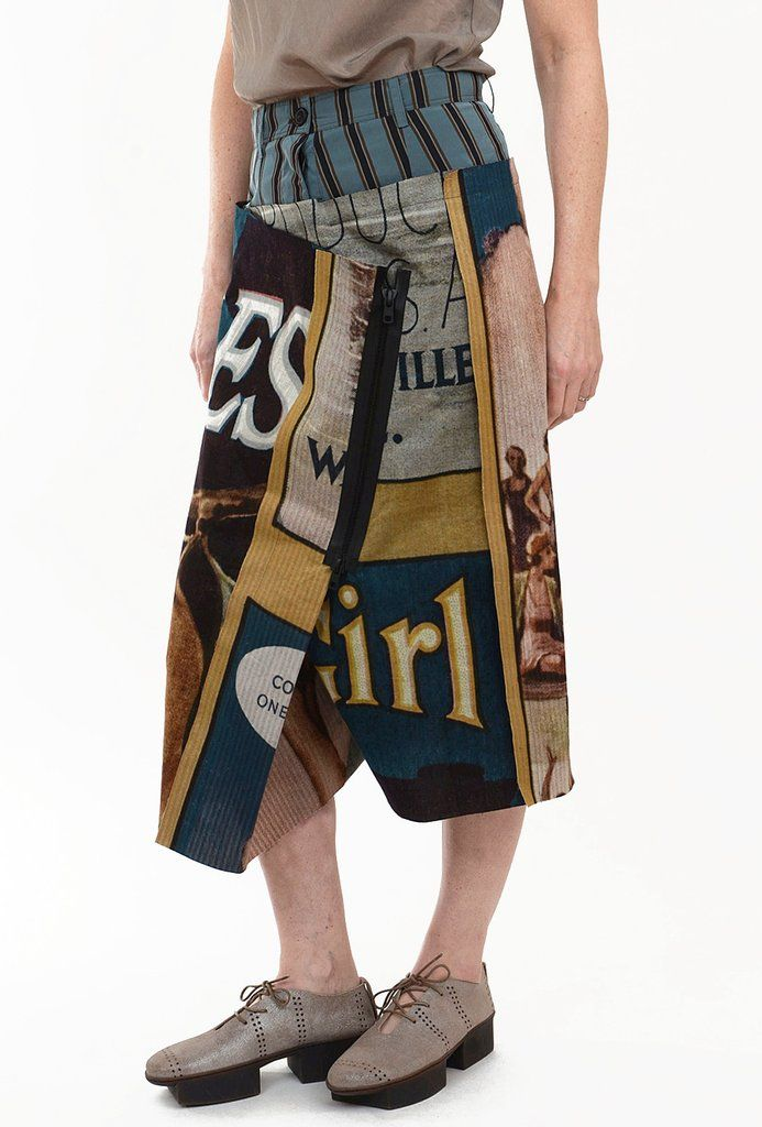 Rundholz Collection Vintage Poster Pants, Original XSmall