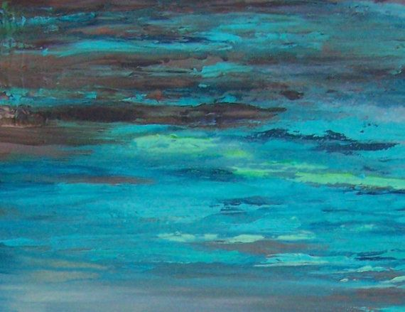 Abstract Art, Turquoise Decor, Brown Turquoise Art, Teal Art, Teal Bedroom, Part 57