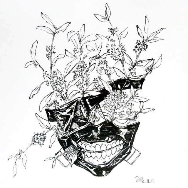 Tokyo Ghoul this would be a badass arm piece...