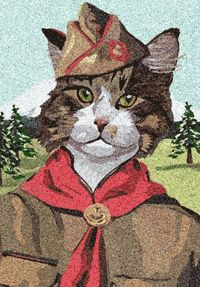 Cat scouts? How pawsome is that?