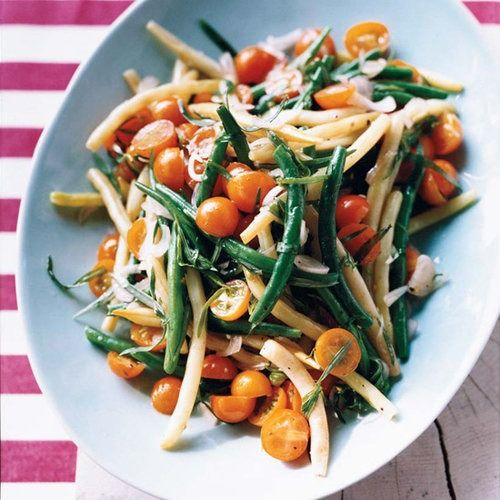 This supersimple bean-and-tomato salad, tossed with a tarragon-flavored dressing, is perfect for summertime picnics, like the kind Paul Virant's mother would prepare when he was a child.