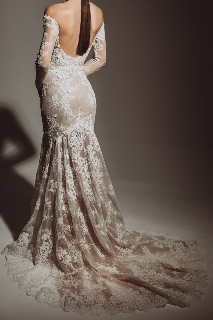 The Azalea Gown From The New Femininity Collection By Alena Leena Wedding Dresses Wedding Dresses Lace Wedding Dress Shopping [ 1104 x 736 Pixel ]