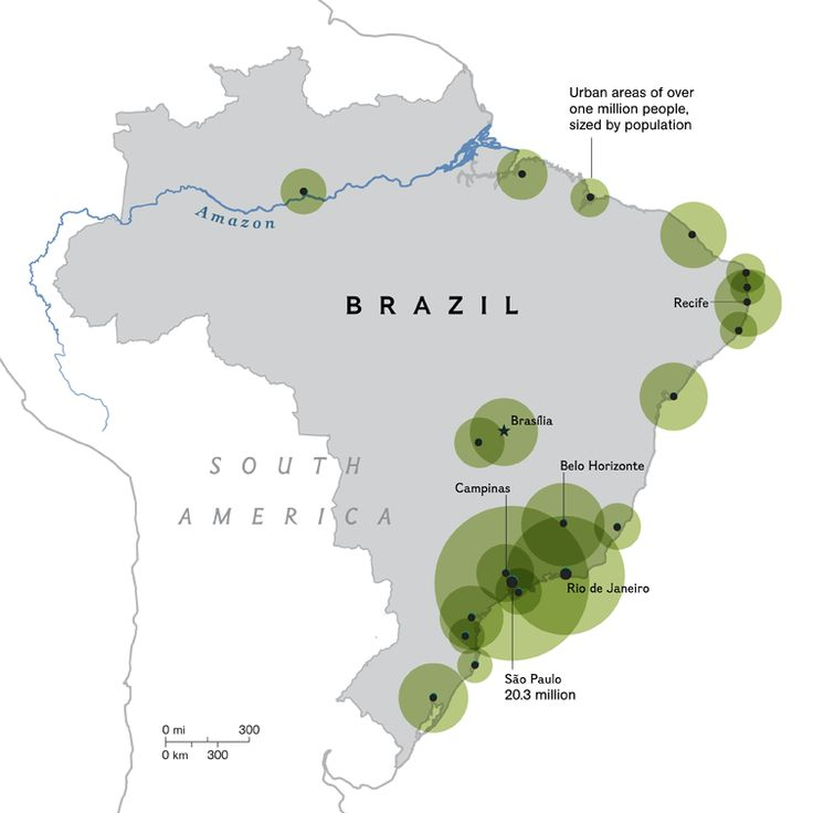 Best Population Growth Images On Pinterest Brazil - Brazil population map
