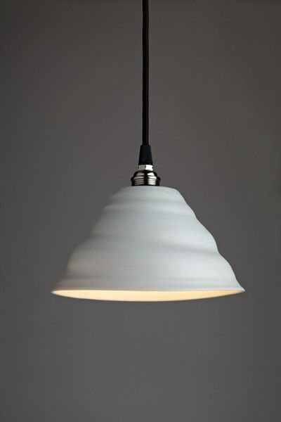 Flared twist pendant by jo davies ceramics the twist pendant range of lights are made from
