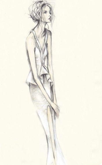 Fashion illustration - delicate & feminine, fashion sketch // Pippa McManus for Manning Cartell