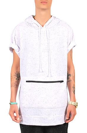 The Stash Short Sleeve Hoodie (White)