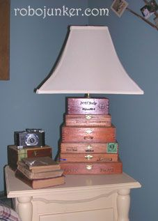 Lamp made with cigar boxes