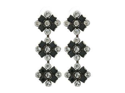 DANNIJO - RIMINI Earrings (Ox Silver/Black/Nude) Earring