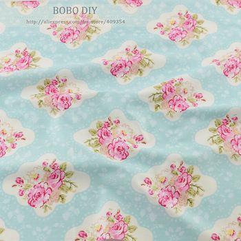 50 см x 160 см / piece довольно винтаж роуз хлопок ткань лоскутное стежка одежда tecido платье швейные постельных принадлежностей домашнего текстиля тильда