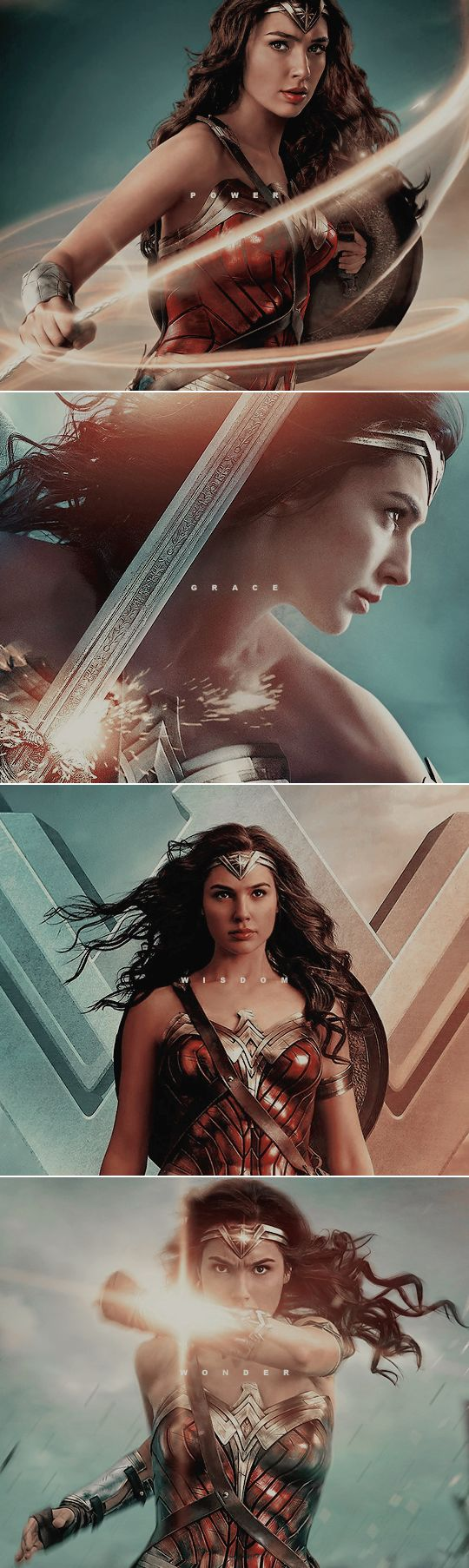 """Might I just say that it pleases me to no end that """"beauty"""" isn't included on that list...yes she's gorgeous, but girls should never grow up thinking that their looks define their worth. #Wonder Woman"""