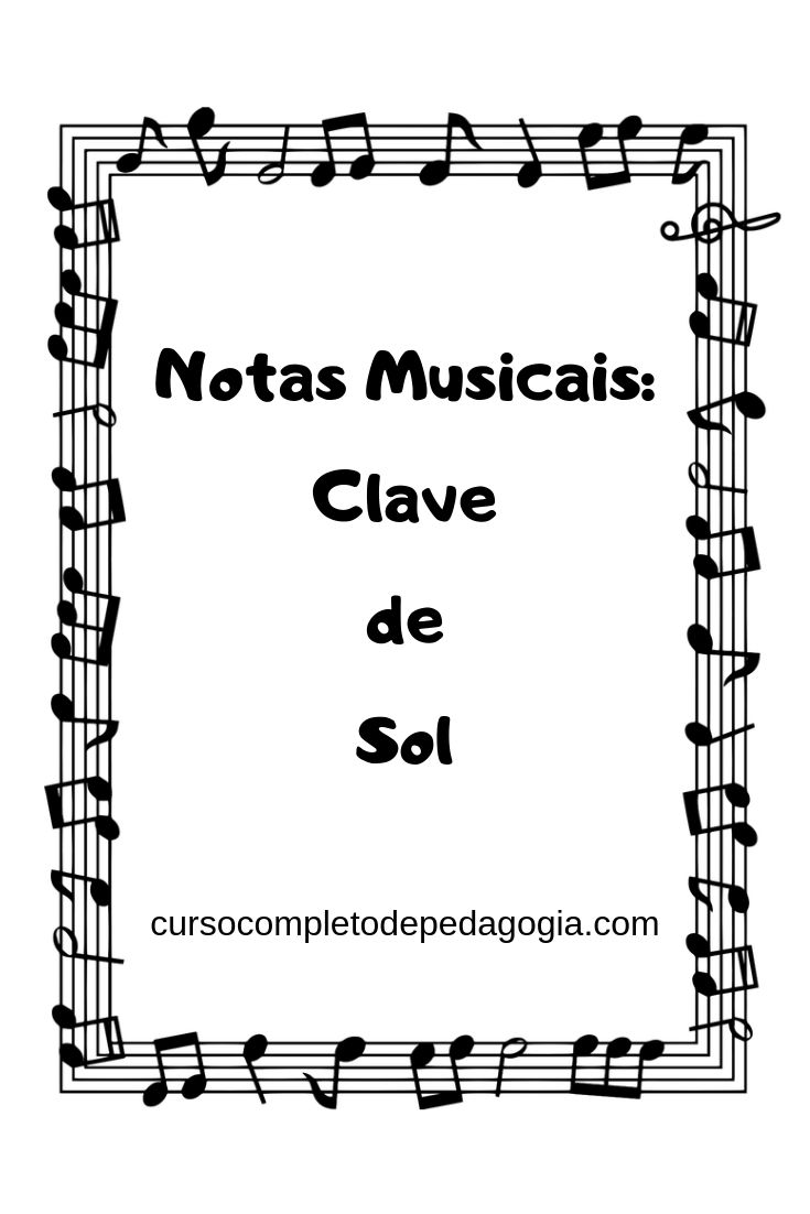 Notas Musicais Clave De Sol Na 2 Linha Com Imagens Escala