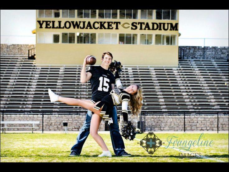 Cute senior couple pose  senior couple, cute couple, couples pose, senior cheerleader, senior football player, cheerleading poses, cheerleading portraits, football poses, football portraits, senior bo (Best Boyfriend Goals)