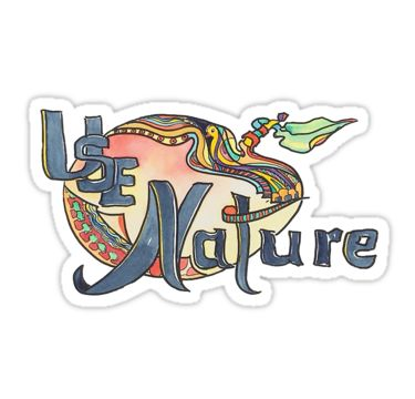 UseNature, available as Sticker, T-shirt, iPhone case ... and more. https://www.redbubble.com/people/gallerygiselle/works/24843393-use-nature-organic-designs-with-purpose?asc=u&ref=recent-owner #usenature #sticker #naturaltherapy #usenatureholistic