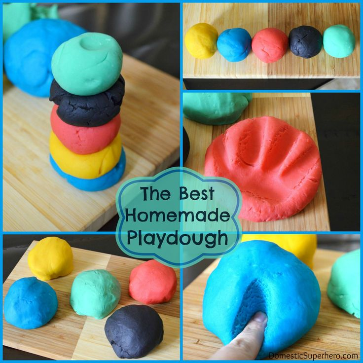 The Best Homemade Playdough Recipe Made this with the girls - instant hit!  Added glitter and it pretty much stays in the playdough.  20130815