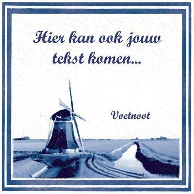 Delfts Blauw tegeltje (nr.51)