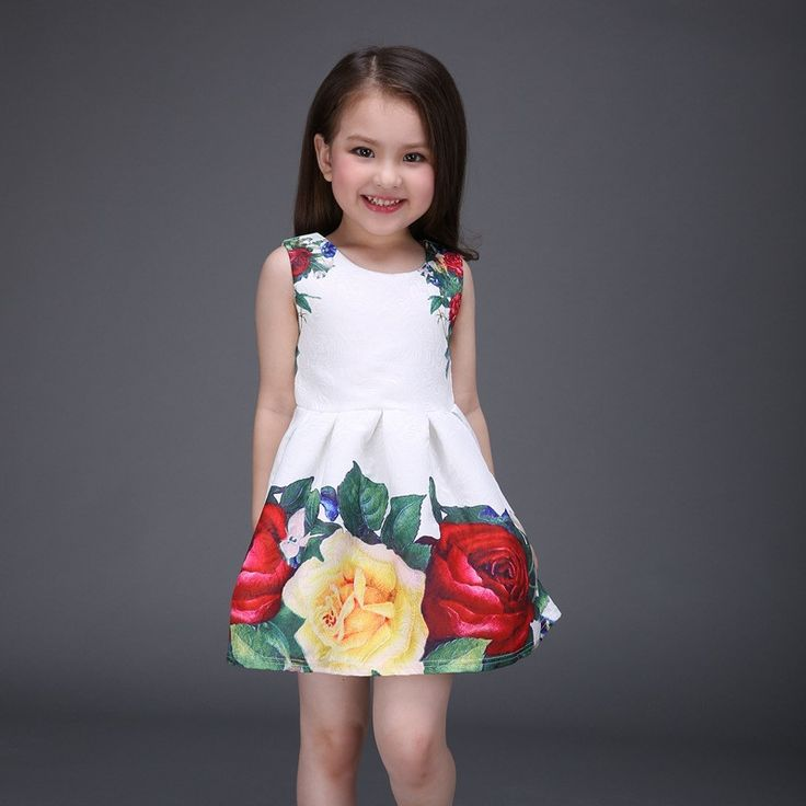 "Item specifics Department Name:Children Gender:Girls Decoration:Flowers Sleeve Style:Regular Pattern Type:Floral Brand Name:Others Style:""European and American Style Material:Cotton,Linen Dresses Leng"