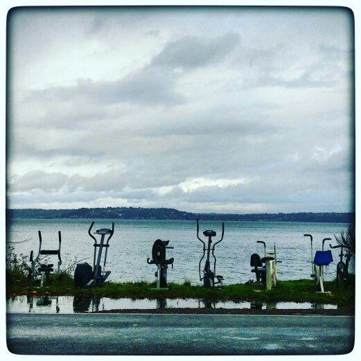 Vashon Island in Vashon, WA aw....memories. those bikes are gone now.