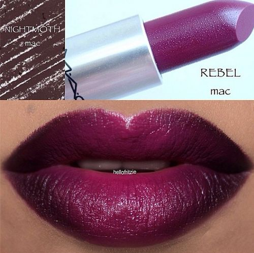 """[LIPS: Love this sexy and rebellious color combination. 