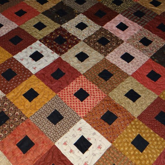 1800's reproduction fabric King size quilt by 4quiltsandmore,