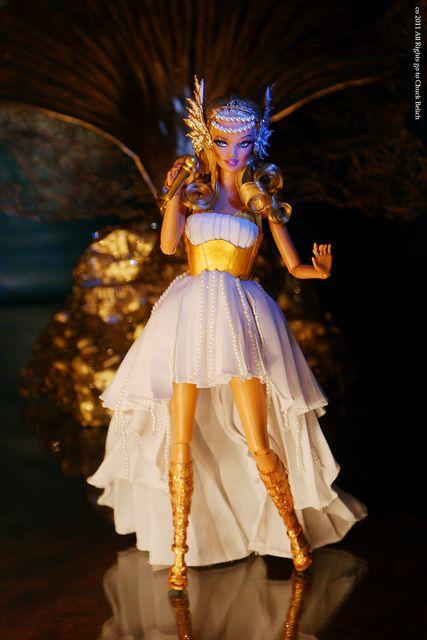 Kylie Minogue Aphrodite Les Folies Barbie doll OOAK by Chuck Belich, via Flickr.