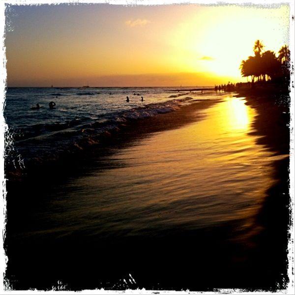 Sunset on Waikiki. Wow!
