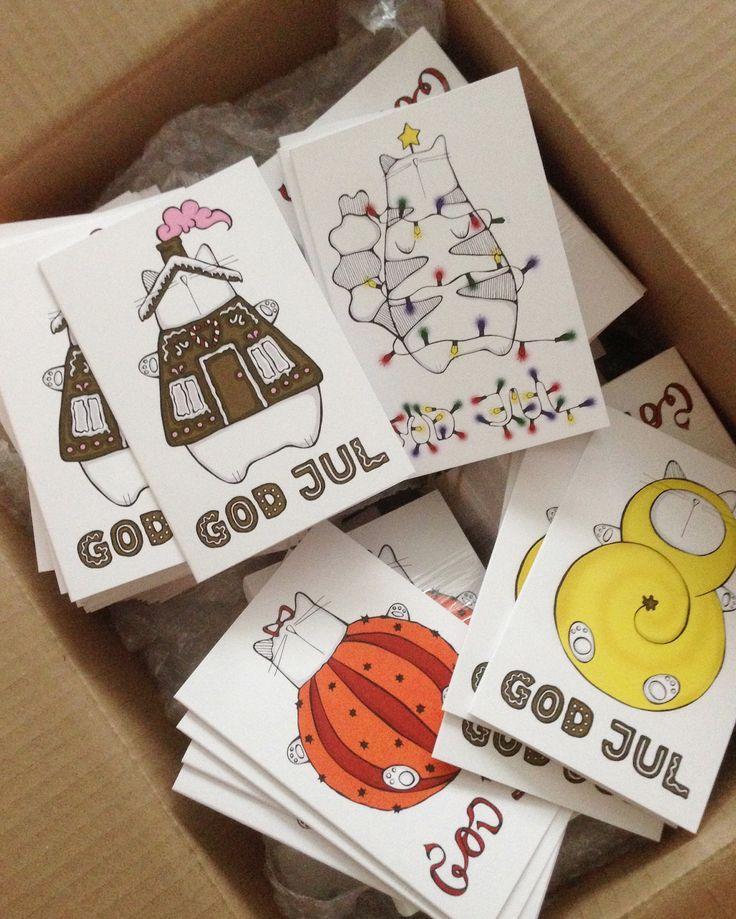 Julkorten har anlänt!