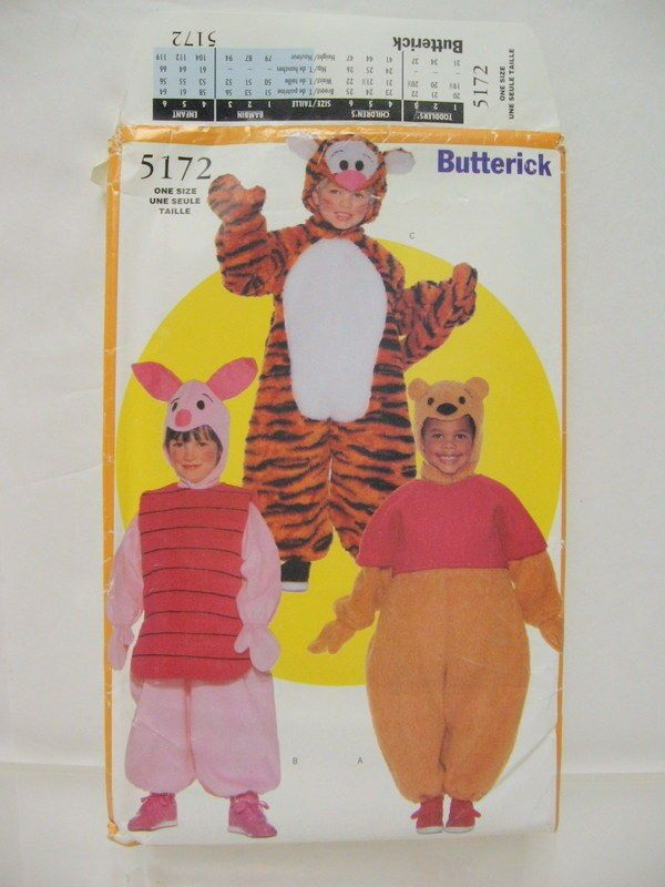 26 Butterick 5172 Winnie the Pooh Tigger Piglet Patterns ...