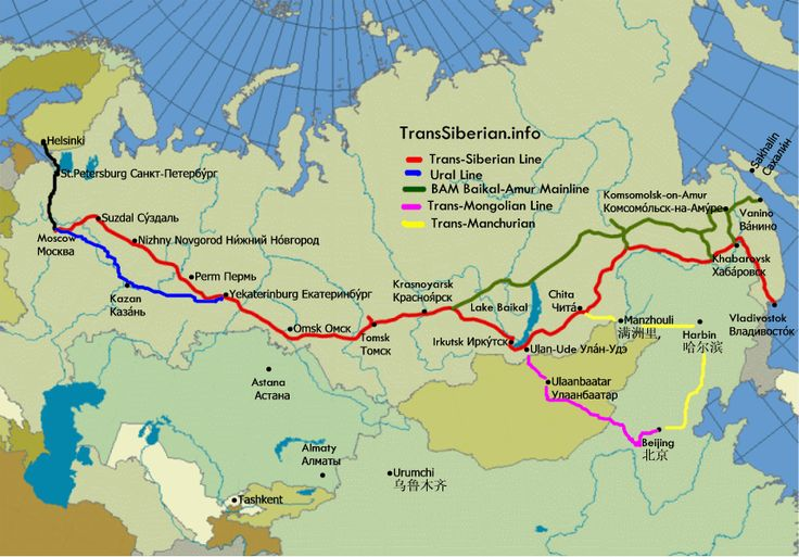 route trans mongolie express