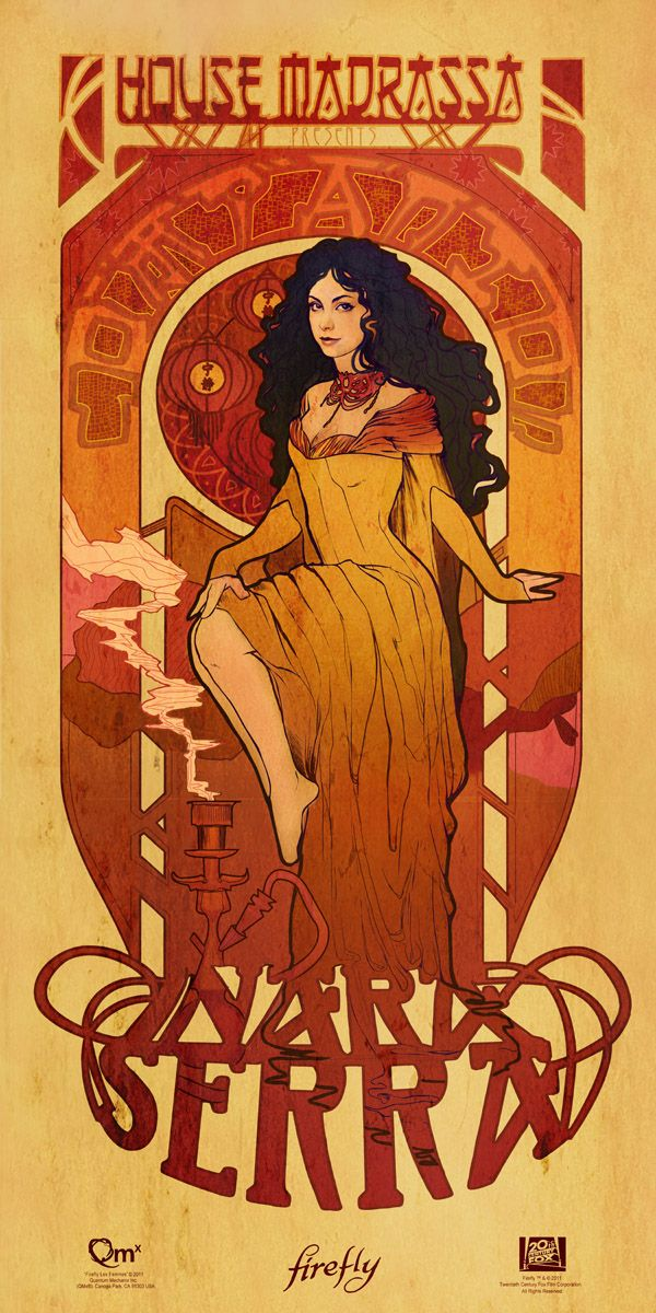 Firefly inspired Art Nouveau