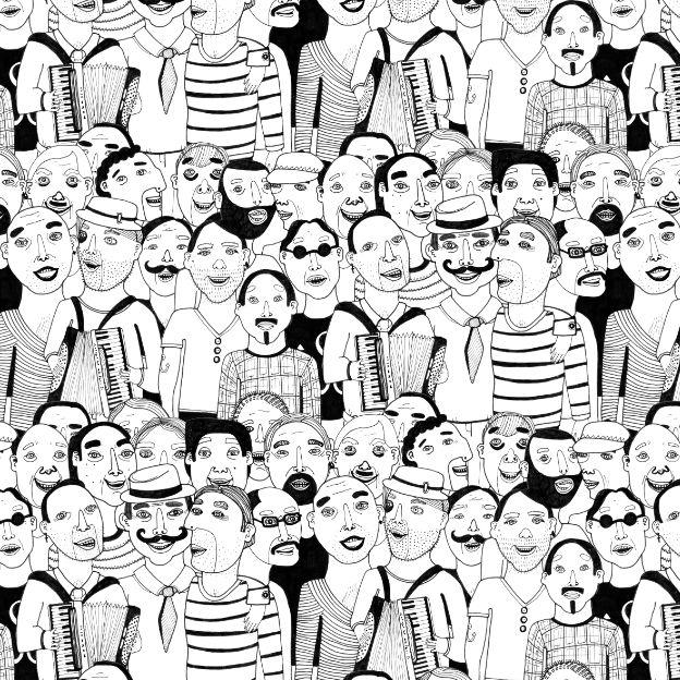 Real Men by @studioteer  #People #blackwhite #pattern